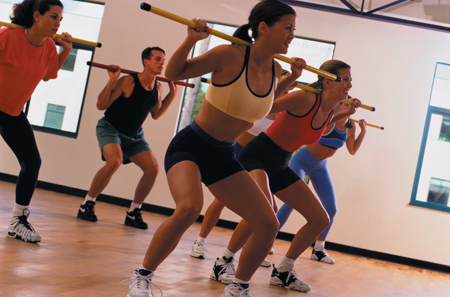 Aerobics class participants