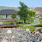 Eagle Summit Park pavilion and trail