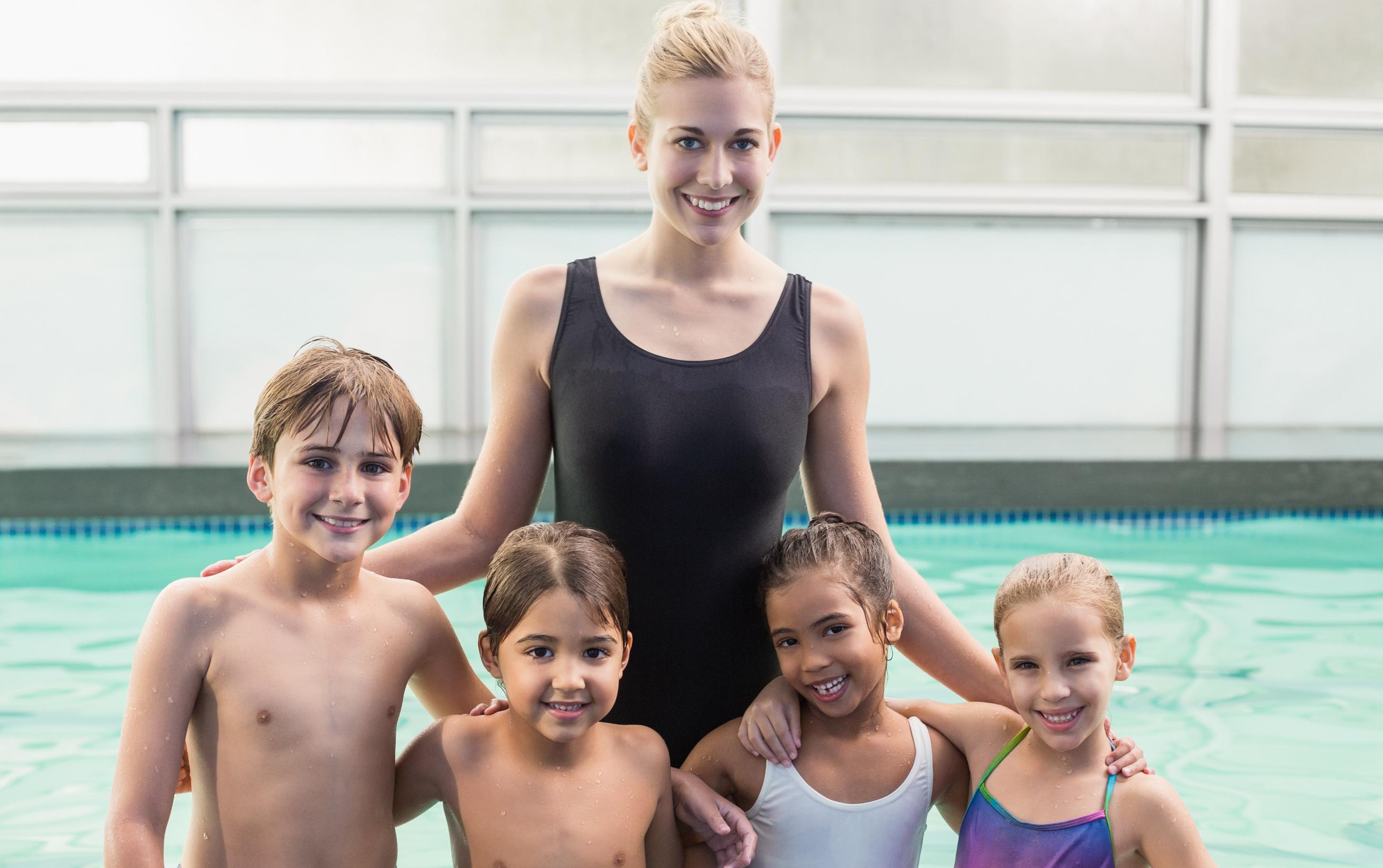 swim lesson class small