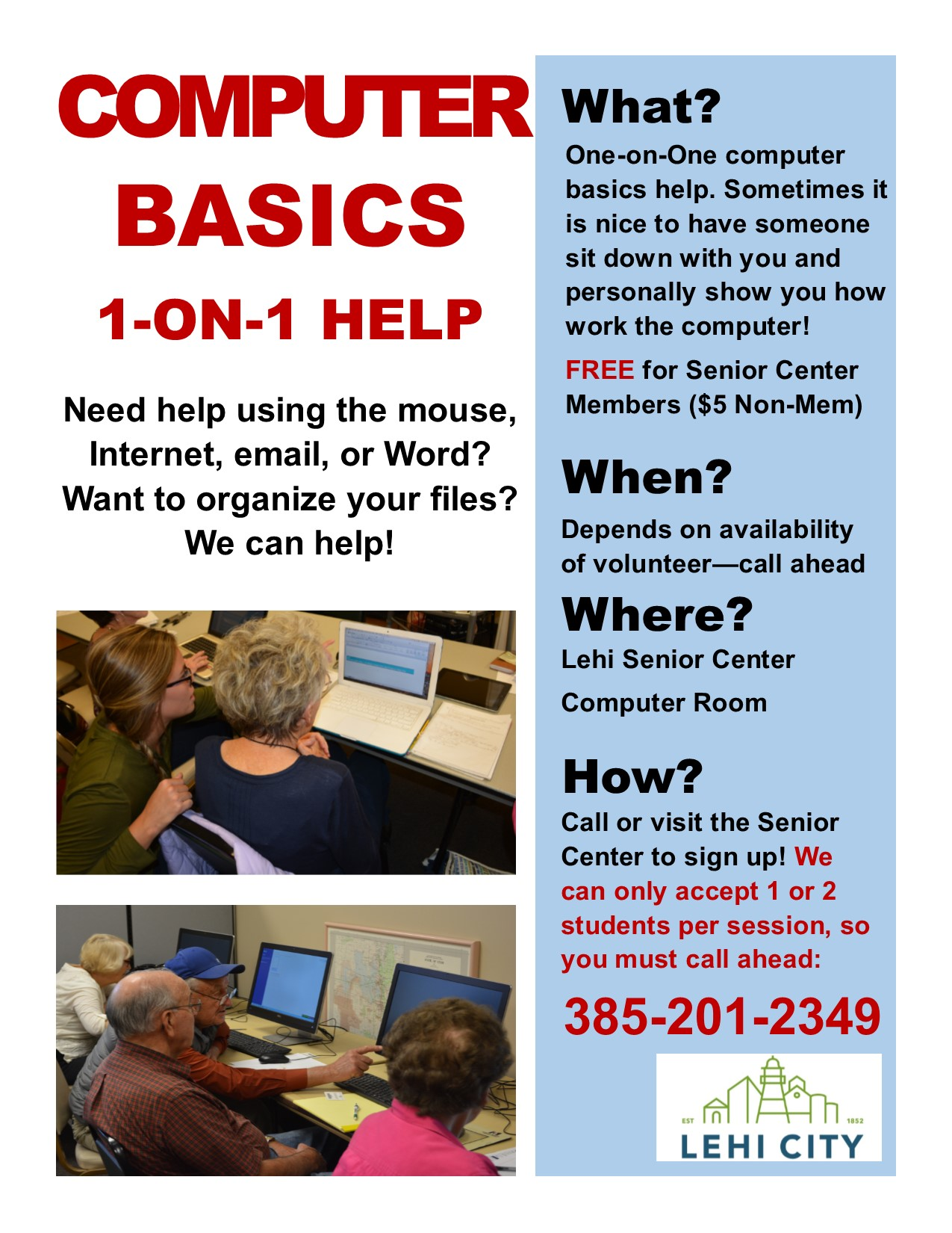 computer instruction for seniors