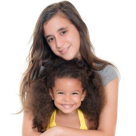Teenage girl and toddler
